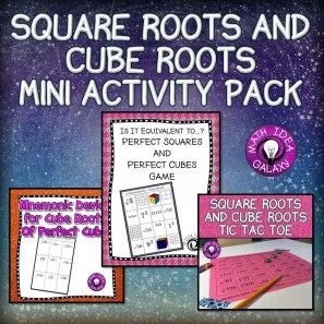 Read this blog post for some activities for practicing square roots and cube roots.
