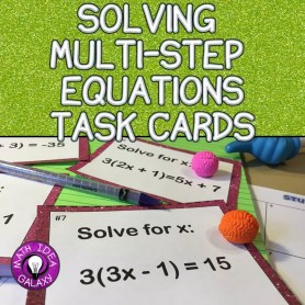 This is a blog post about how to teach multi-step equations.