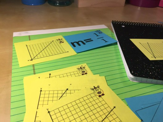 This slope matching game is perfect for reviewing identifying slope, and so simple to use. Read more about this and 10 other activities to help students understand & practice slope.