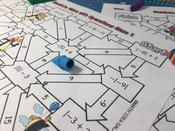 These mazes are the perfect absolute value activities to get students fun practice. They love the added twist to math practice. Check out all 11 absolute value activity ideas and resources!