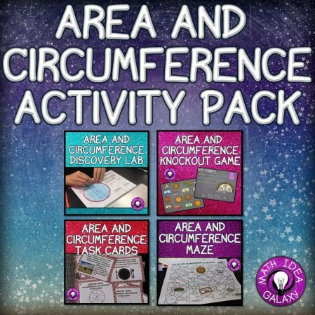 Hands on activity ideas and resources for teaching area and circumference.