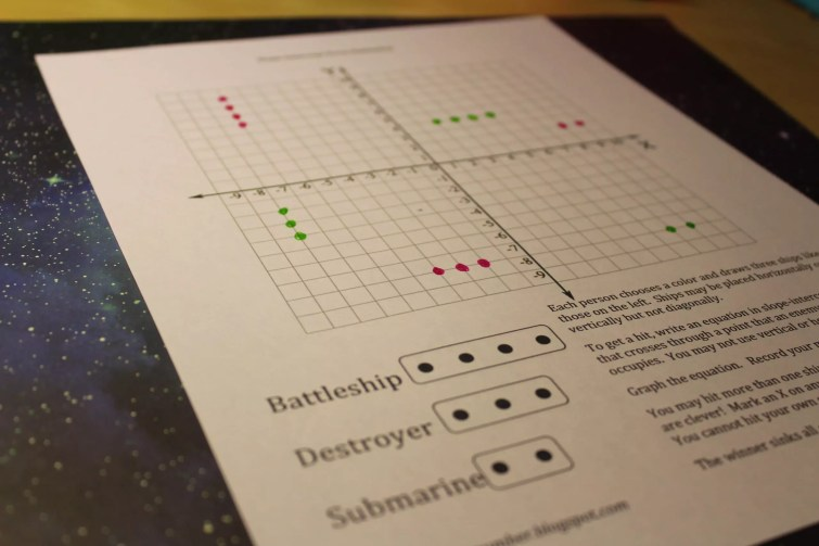Playing Battleship helps students get graphing lines practice while having fun. Check out all 8 graphing lines activities & resources.