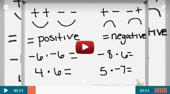This video from Teacher Tube gives students a great strategy to use when multiplying and dividing integers. Check out all 12 multiplying and dividing integers activity ideas and resources, including FREE download, online resources, and time-saving printables.