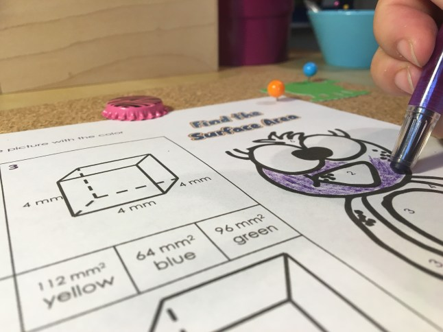 Get a brain break while practicing with surface area with this fun math coloring activity. Check out all 11 surface area activities for the middle school math classroom.