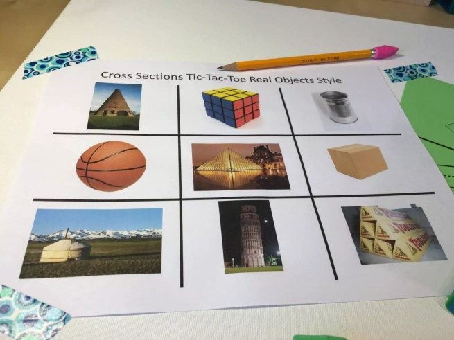 This tic tac game gets students talking about cross sections of 3D shapes. Check out all 12 engaging cross sections math activities, including FREE cross sections graphic organizer.