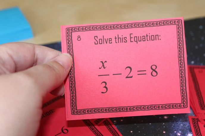Two-step equations mini task cards can be used in so many ways to practice solving two step equations. Read how I played a simple game of SCOOT with these cards and check out all 12 two-step equations activity ideas and resources, including a FREE download.