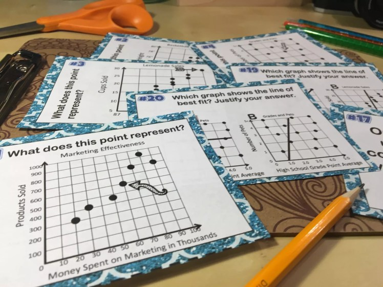 Task cards are the perfect alternative to worksheets. They're such a versatile way to get scatter plot graph practice and review. Check out all 11 engaging scatterplots activities students will love.