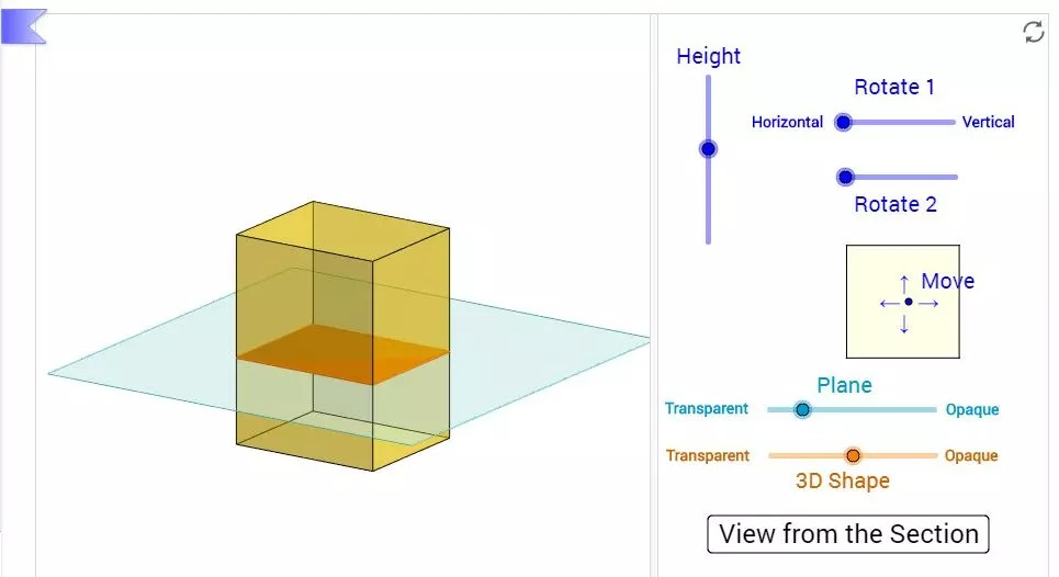 Using this cross sections of 3D shapes tool from Geogebra gets students hands on and exploring this geometry concept. Great online tool for the 1:1 classroom. Check out all 12 engaging cross sections math activities, including FREE cross sections graphic organizer.