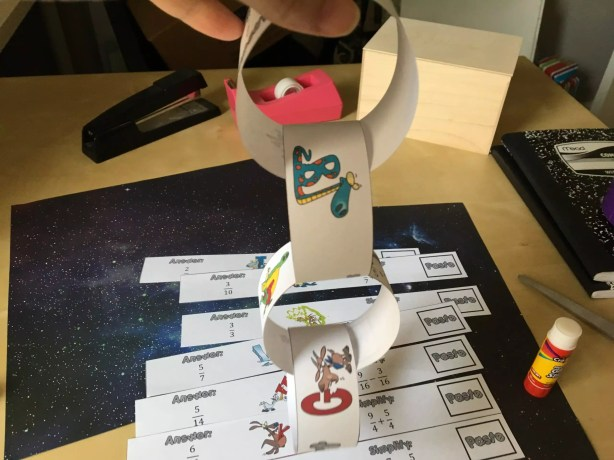 Fractions paper chain activities get students practice and lots of math talk! Check out all 10 adding and subtracting fractions activity ideas for fractions with like denominators.