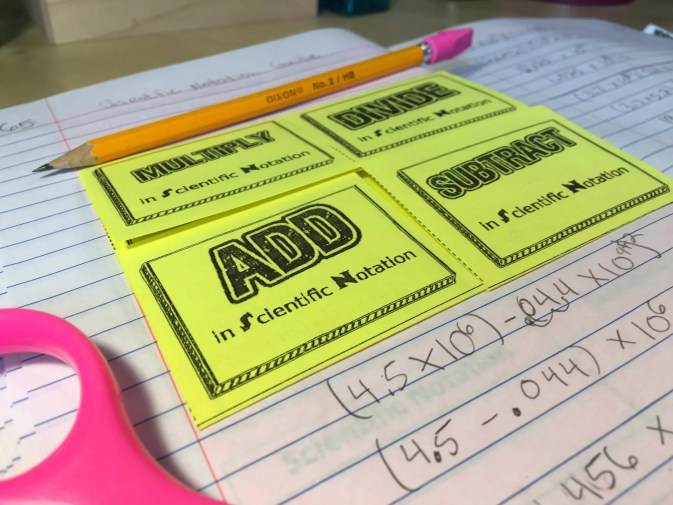 How To Teach Scientific Notation With Interactive Notebooks