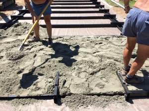 stesura sabbia