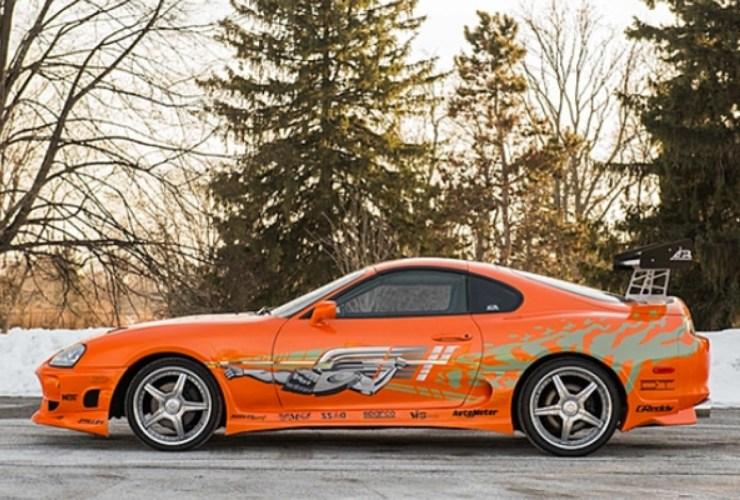 paul walker orange supra