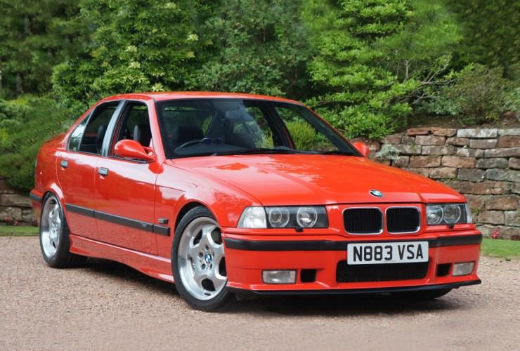 red 1995 bmw e36 m3