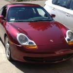red porsche 911 996
