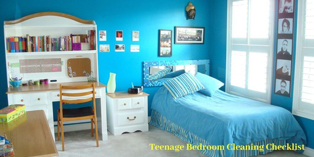 Teenage bedroom cleaning checklist