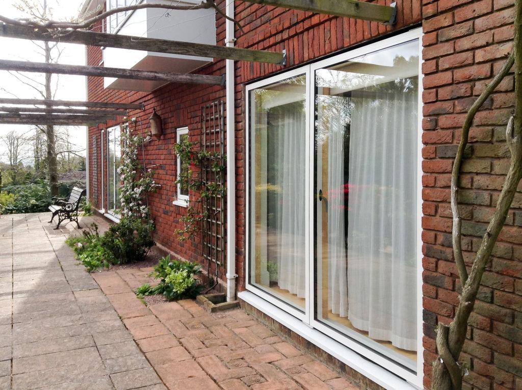 single sliding door in renovation