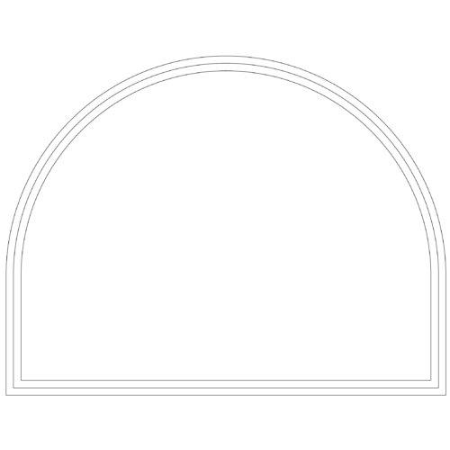Vindue med cirkelformet top