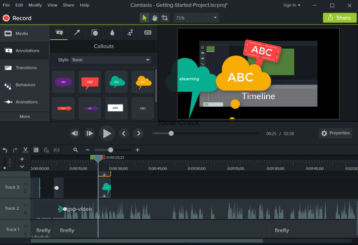 Camtasia Studio 2019.0.7 Build 5034 Crack With License Key