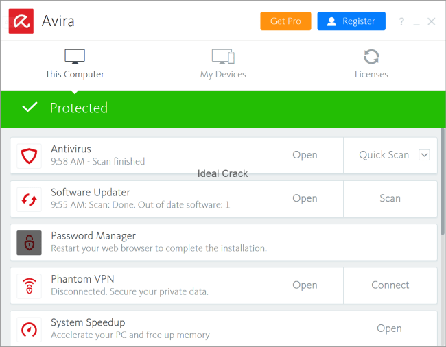 Avira Antivirus Pro 15.0.1906.1432 Serial Key Full Crack