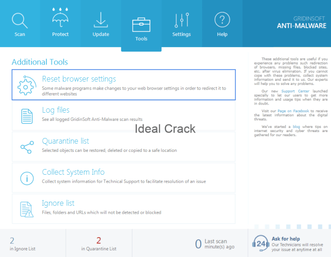 GridinSoft Anti-Malware 4.0.38 Crack With License Key Free 2019