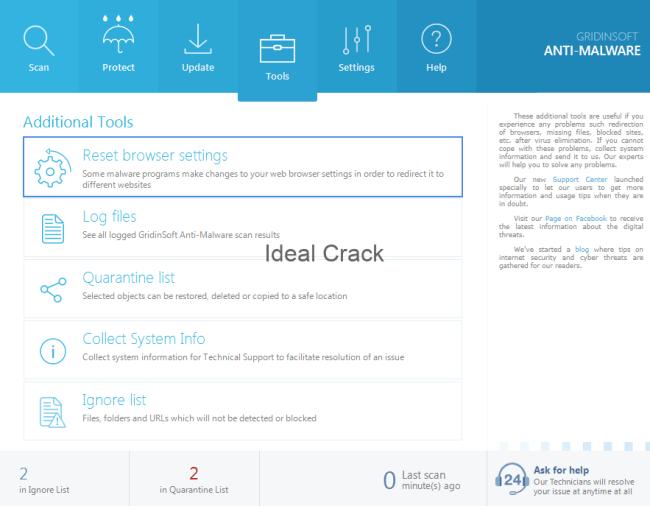 GridinSoft Anti-Malware 4.0.45 Crack With License Key Free 2019