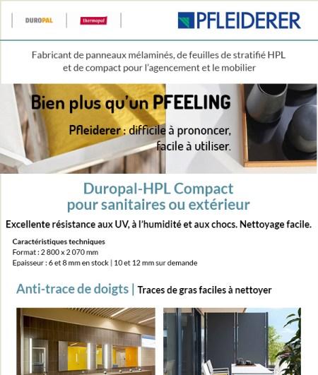 IDéales Communication Emailing Newsletter Pfleiderer Conception