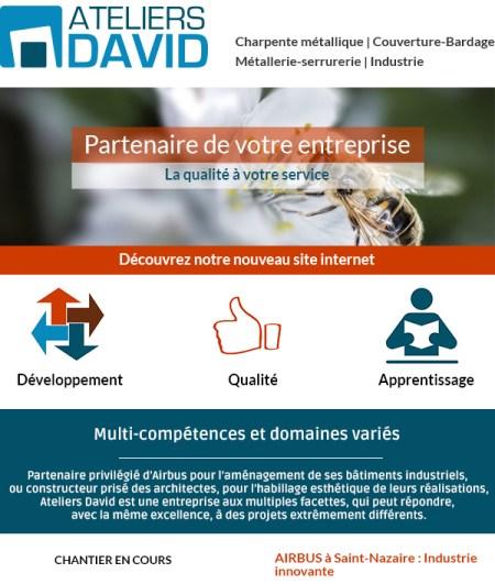 IDéales Communication Emailing Newsletter Ateliers David Conception