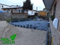 Einfahrt Neubau Pflasterfläche Fundament Carport