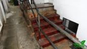 Treppe Rückseite gewaschen