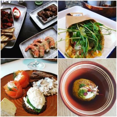 Four snacks or lunch ideas in Helsinki.