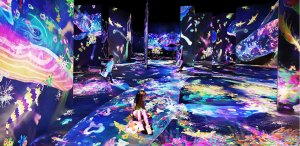 Graffiti Nature: Lost, Immersed and Reborn by teamLab at massless-exhibition at Amos Rex.