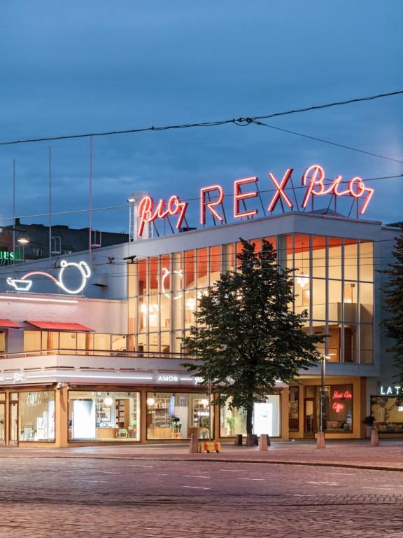 Amos Rex facade.