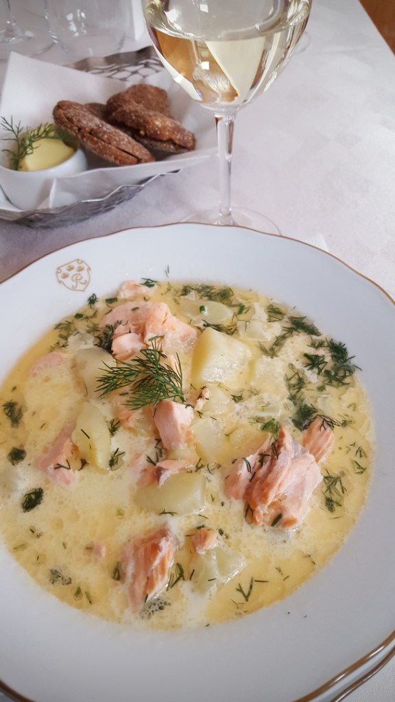 Salmon soup at Kolme Kruunua. Image: Ideal Helsinki