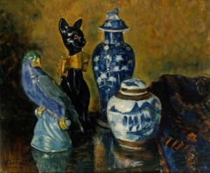 Maljakko ja sinisiä figuureja - Alfred William Finch. Image: Hannu Aaltonen / Finnish National Gallery