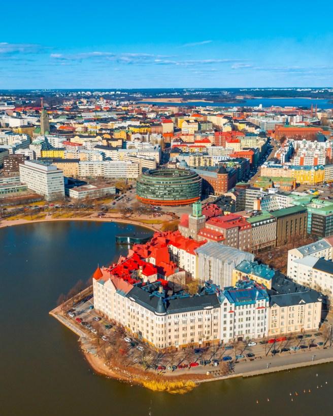 Hakaniemi ja Kallio keväällä. Kuva: Omar El Mrabt / Helsinki Marketing