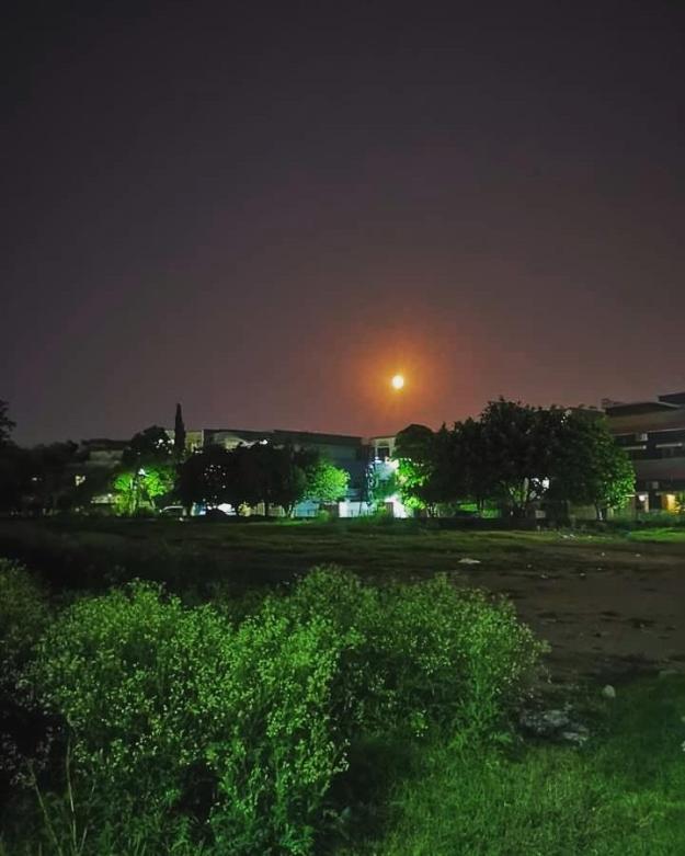 Beautiful moon in Islamabad