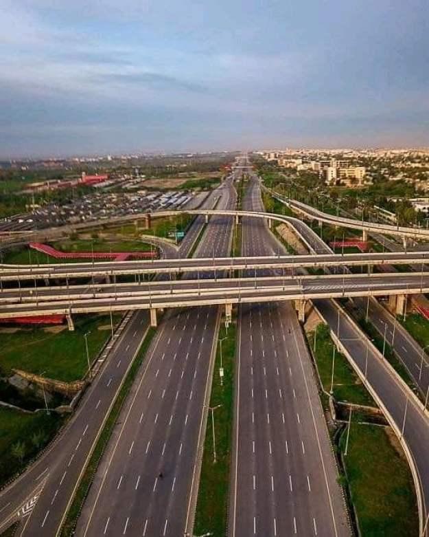 Islamabad Expressway in Lock down