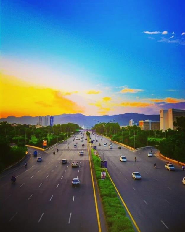 Islamabad Expressway Sunset
