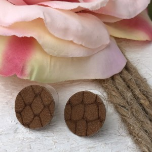 Brown Snake Print Buttons Collection