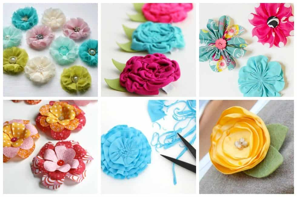 16 Easy Fabric Flowers to Sew for Your Next Project   Ideal Me You certainly don t have to worry about these flowers dying with our list of