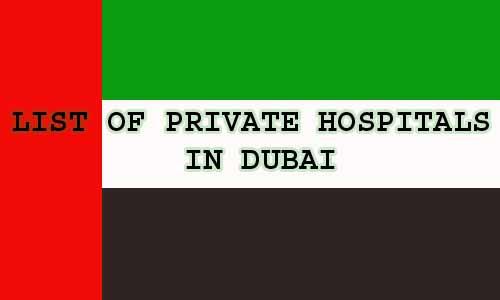 LIST of private hospitals in Dubai