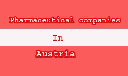 pharmaceutical companies in Austri