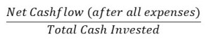 calculate cash on cash return
