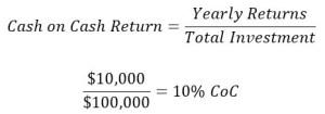 Owner Financing Cash on Cash