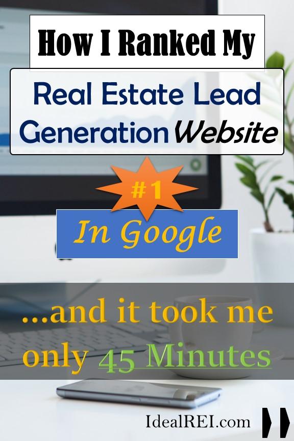 real estate lead generation website