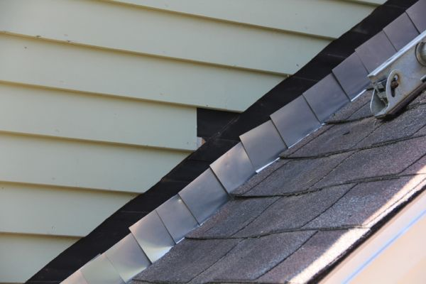 Step Flashing for Roof Inspection