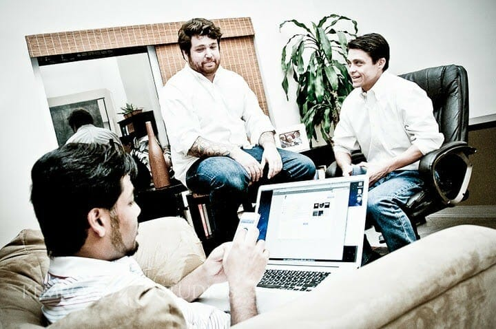 Mauricio Jimenez and the Founders of VaultBox