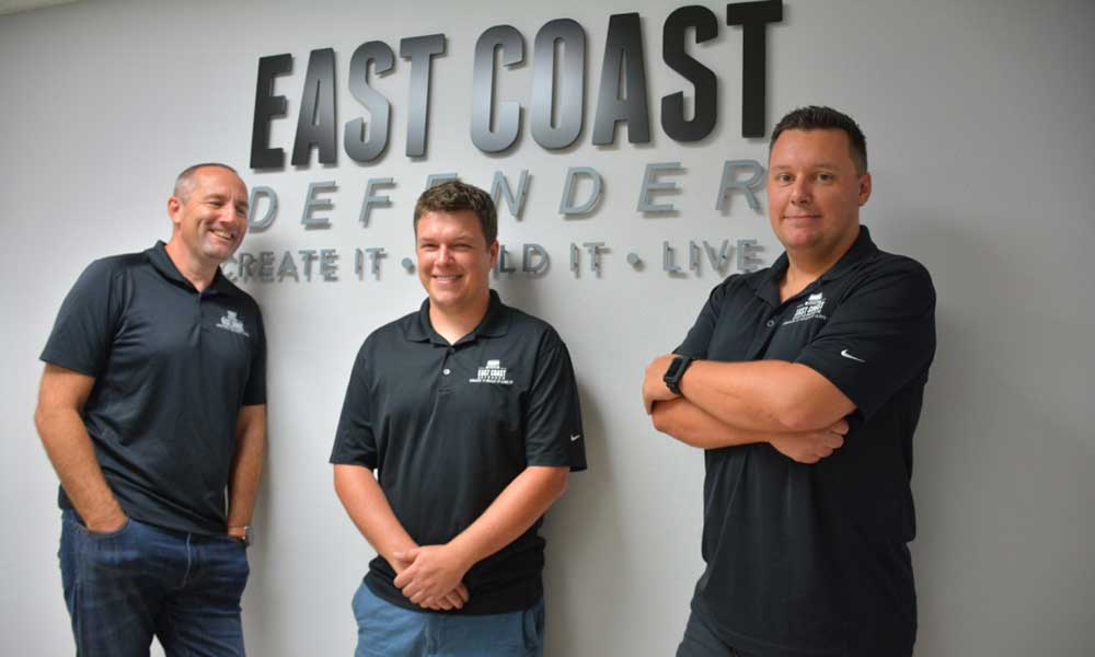 Scott Wallace, Tom & Elliot Humble - Founders of East Coast Defender