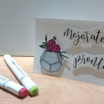 Tarjeta de mejórate pronto sencilla con sellos