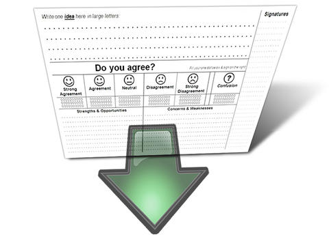 download idea rating sheet button